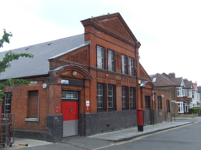 Mail sorting office near Brixton