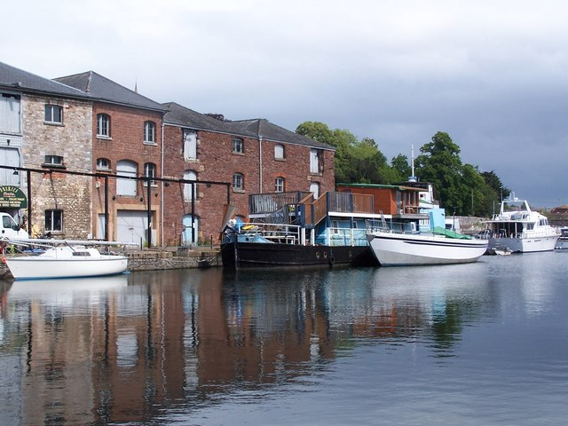 Boats and warehouses, Exeter canal basin