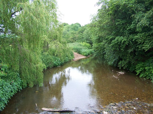 River Otter from bridge at Otterton