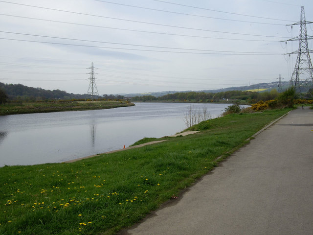River Tyne from Rowing Club at Newburn