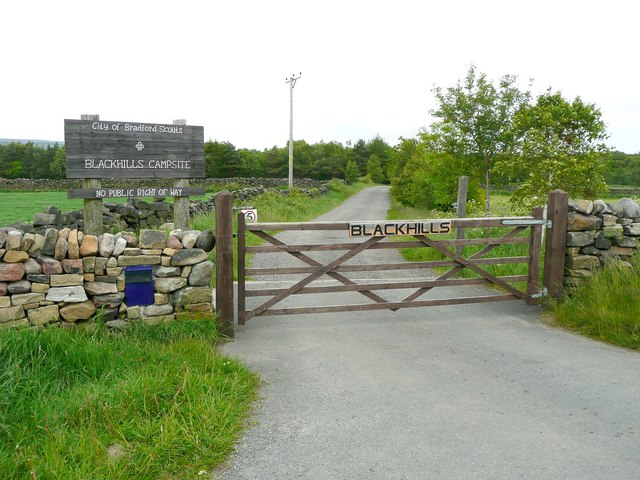 Entrance to the Blackhills scout camp site, Wilsden
