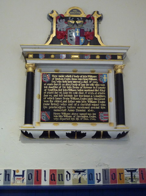 Tyneham: colourful memorial in the church