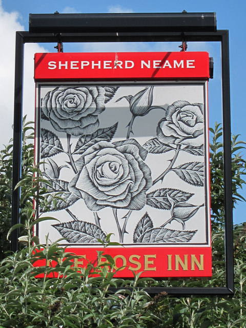 The Rose Inn sign