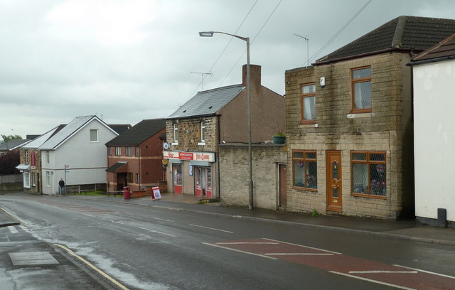 Houses and shop, West Street, Eckington
