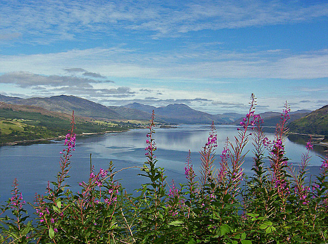 Loch Carron, viewpoint view