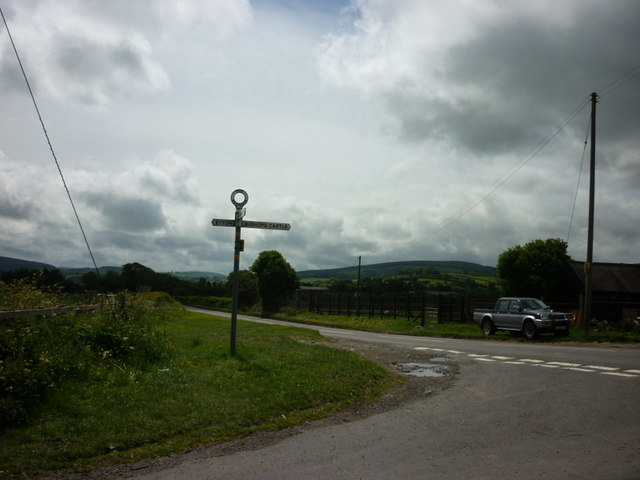 Looking down the A488 Love Lane near Bishops Castle