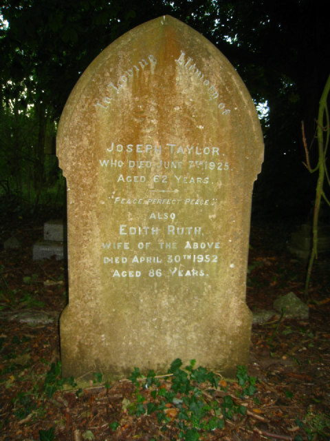 Tombstone in All Saints churchyard