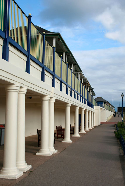 Colonnade and beach huts