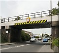 SJ9292 : Ashton Road railway bridge by Gerald England