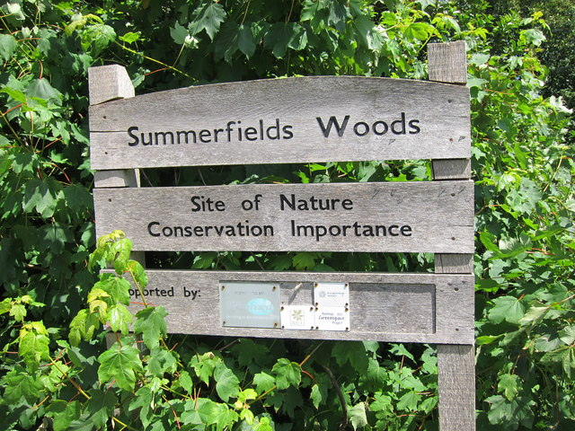 Summerfields Woods sign