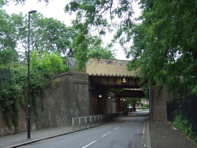 Leigham Vale railway bridges, near Tulse Hill