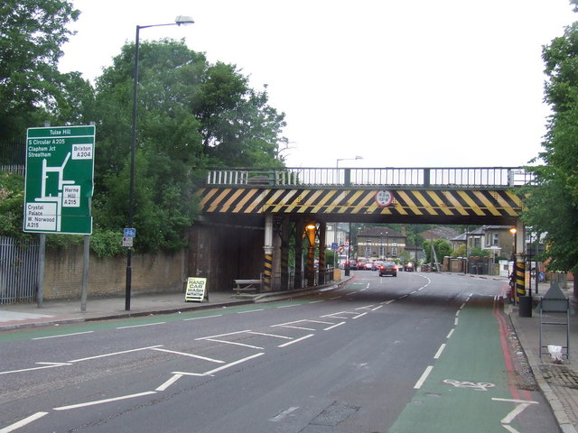 Low bridge, South Circular Road at Tulse Hill