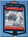 TR1167 : The Marine Hotel sign by Oast House Archive