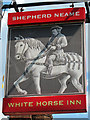 TR0559 : White Horse Inn sign by Oast House Archive