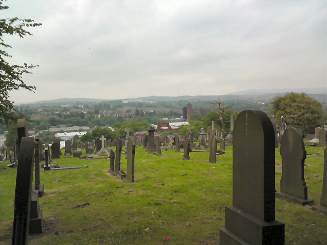 View from Dukinfield Cemetery