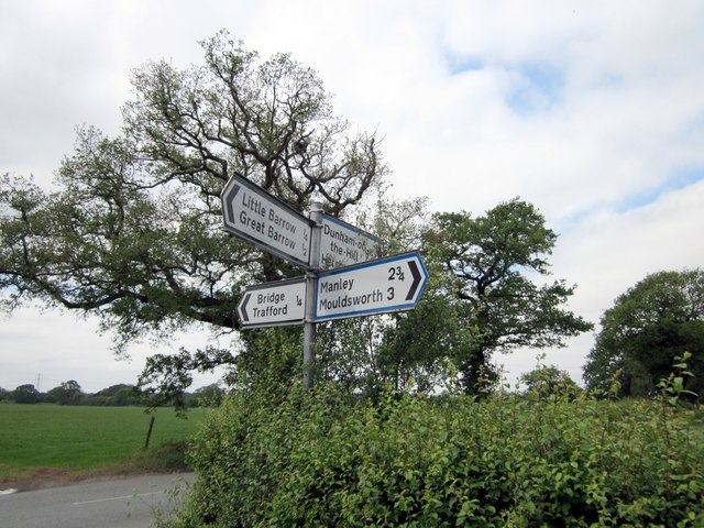 Signpost on the B5132