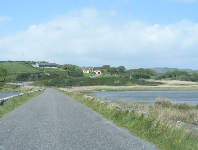 Causeway across estuary between Dough and Lissagriffin Townlands