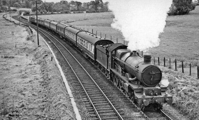 Manchester - Penzance express ascending Rattery Bank near Tigley