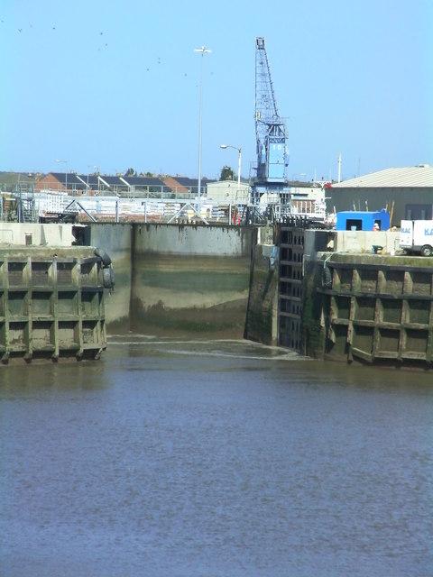 Dock gates closed