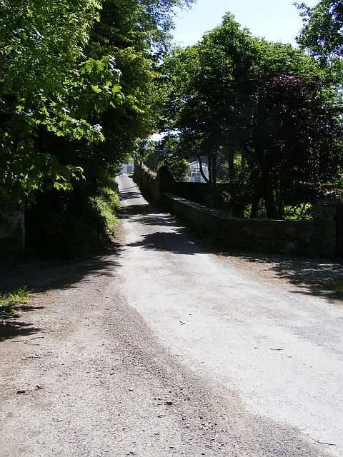 Minor road at White Hall - Whitehall Townland