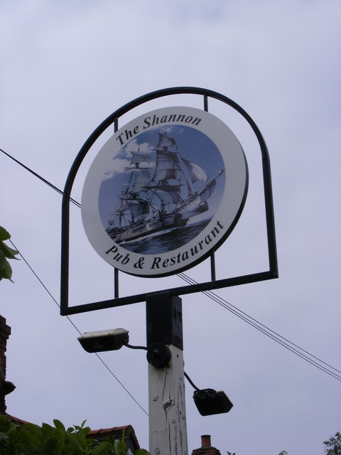 The Shannon Public House sign
