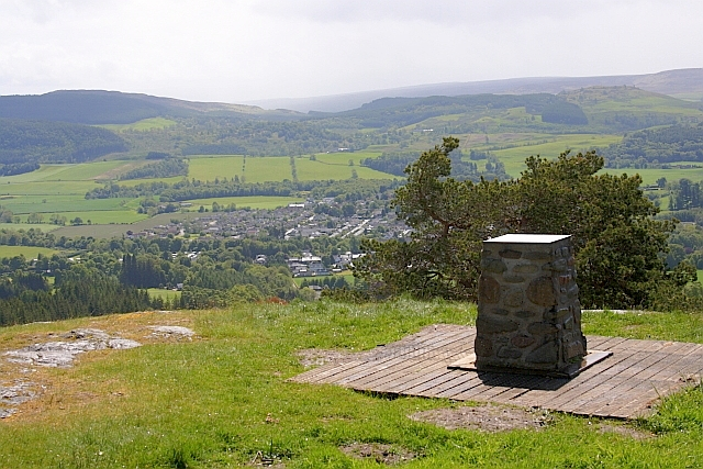 Toposcope  on the Summit of Dun More