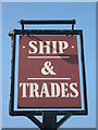 TQ7670 : Ship and Trades Pub Sign, Chatham by David Anstiss
