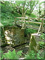 SK3174 : Footbridge on path between Moorhall and Barlow Grange by Andrew Hill