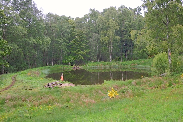 Pond near Comrie Croft