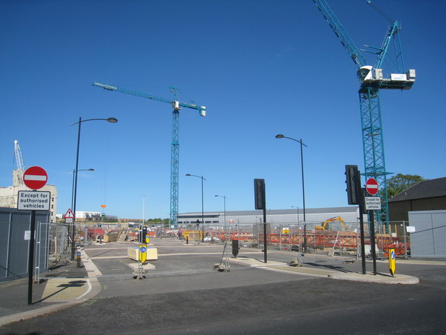 Main entrance to the CB1 development