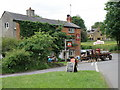 SP3533 : Brewery dray at the Pear Tree Inn by Michael Trolove