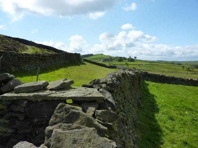 Dry stone walls on Taxal Moor