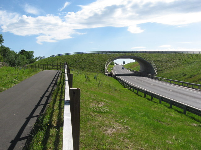 Bridge over the new A473 near Llantrisant