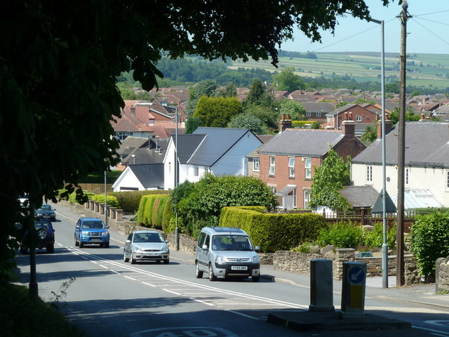 Matlock Road and western suburbs of Chesterfield