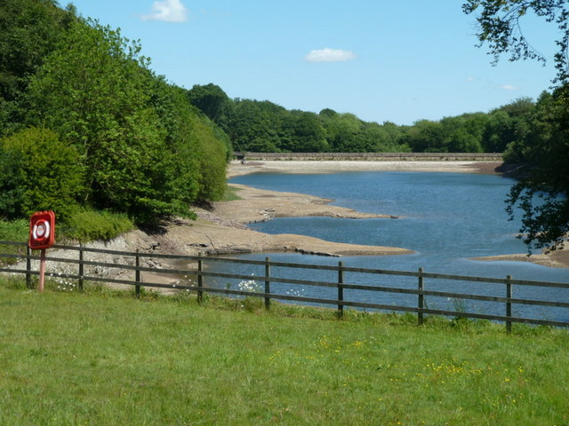 Low water at Linacre Lower Reservoir