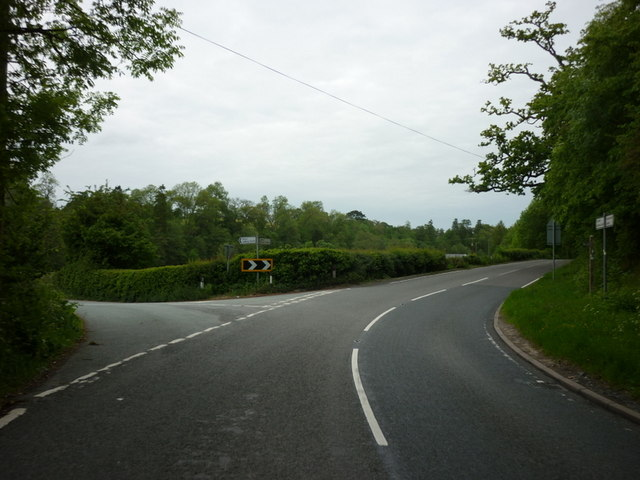 The A489 at the Eyton turnoff