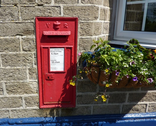 VR postbox, in wall of Shady Oak