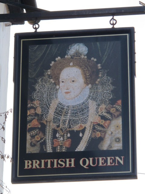 Sign for The British Queen, Crofton Road, BR6