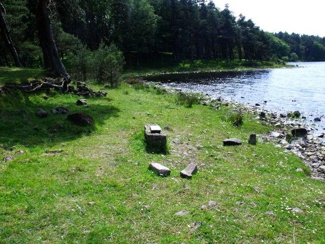 Hillend Reservoir, marker stone No. 45