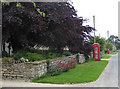 SE6186 : K6 phonebox and postbox, Carlton village by Pauline Eccles