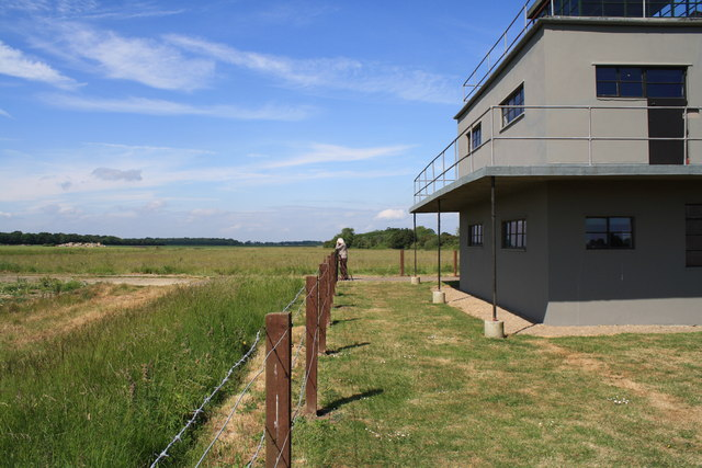 Thorpe Abbotts airfield and control tower