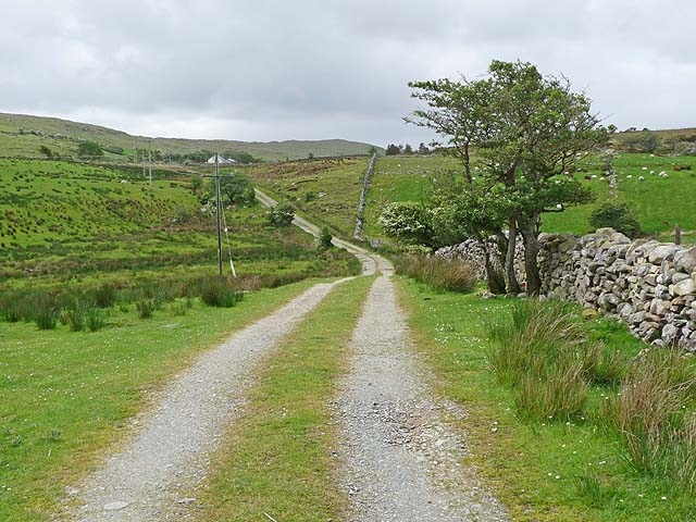 Road to farms at Teevenish East
