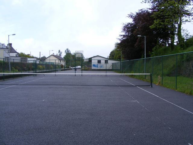 Remnants of Drimoleague railway station from the tennis courts - Dromdaleague Townland