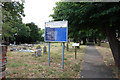 TQ5680 : St Michael, Aveley - Notice board by John Salmon