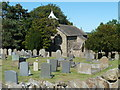 SK3474 : Churchyard and church of St Lawrence, Barlow by Andrew Hill