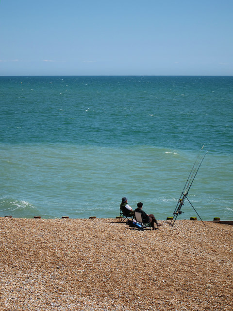 Fishing on Pelham Beach