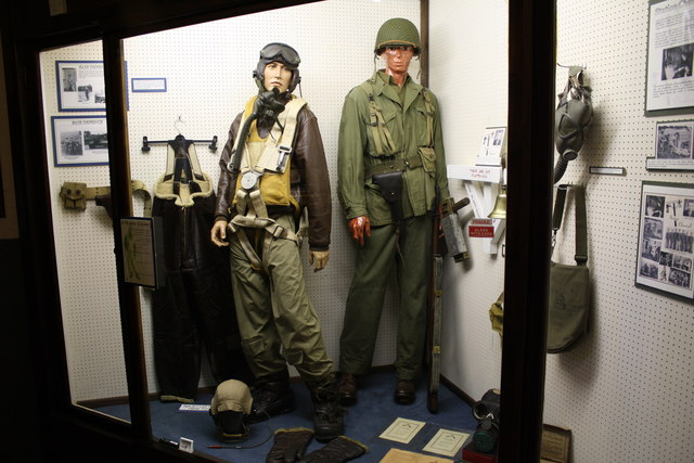 Exhibits in the Control Tower at Thorpe Abbotts Museum