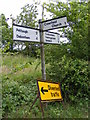 TM1558 : Roadsign on Debenham Road by Adrian Cable