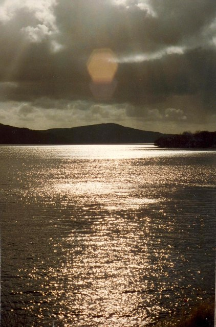 Lough Gill and Innishfree (right) from Trawane Bay