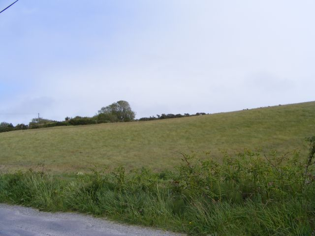 Farmland to the south of a minor road - Rathmore Townland